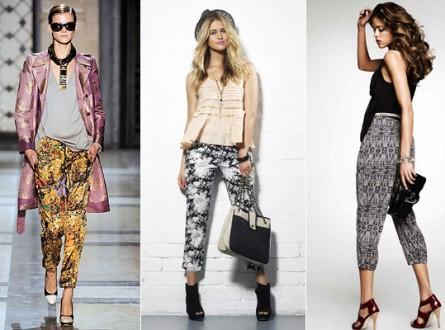Wzorzyste spodnie