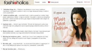 fashioholics wywiad