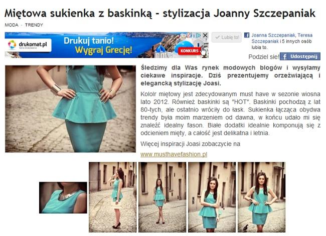 Miętowa sukienka w Na Salony