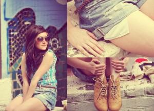 Krótkie szorty Boyfriends jeans set