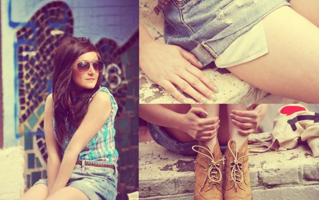 Krótkie szorty boyfriends jeans