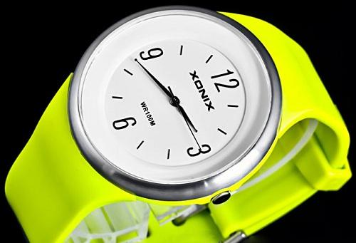 Zegarek zielony fluo neonowy