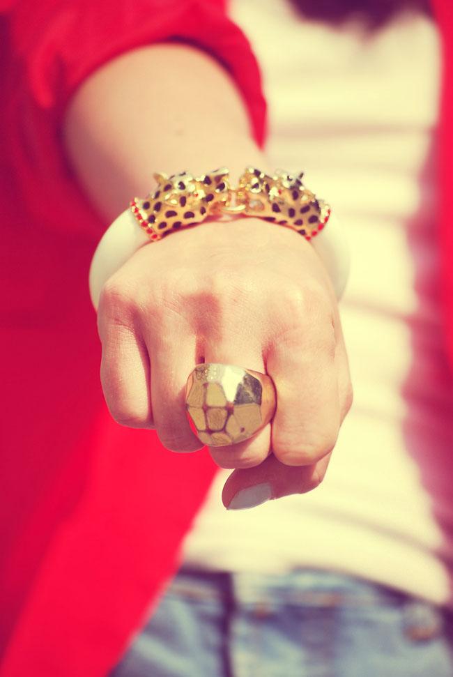 Złoty pierścionek H&M