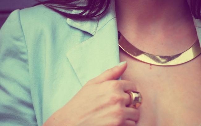 Złoty naszyjnik H&M