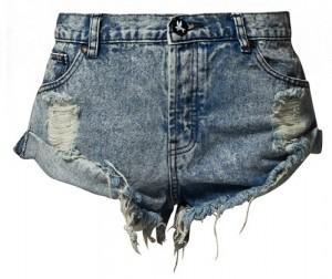Krótkie szorty jeansowe