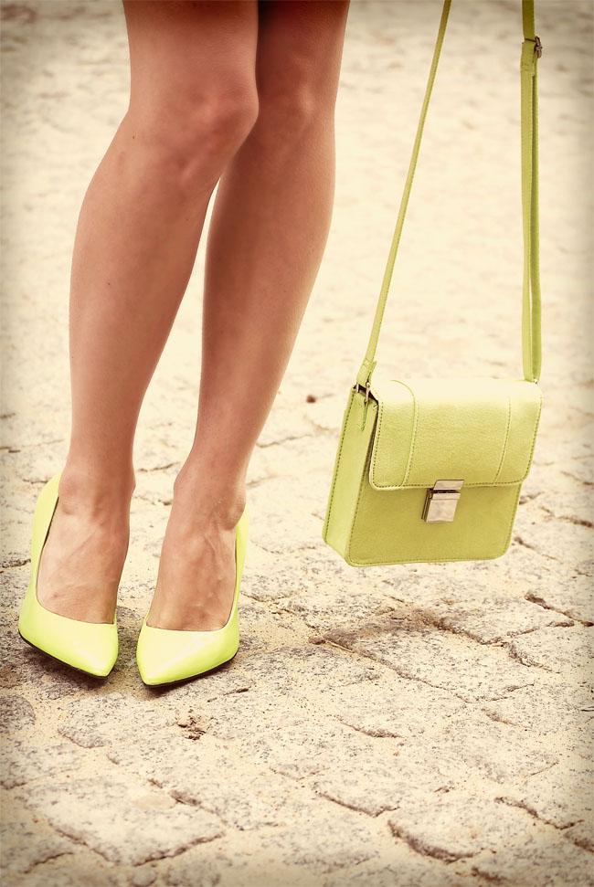 Neonowa H&M torebka
