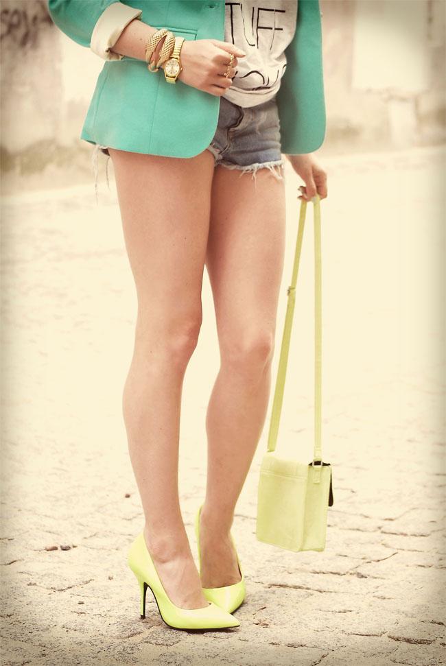 Neon buty torebka