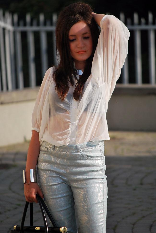 Bluzka transparentna