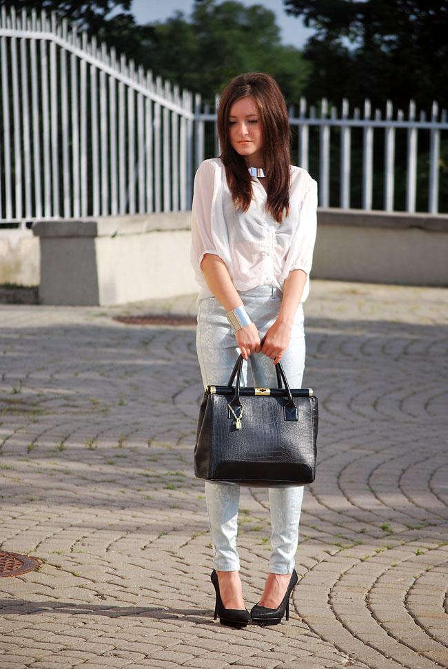 Spodnie miętowe