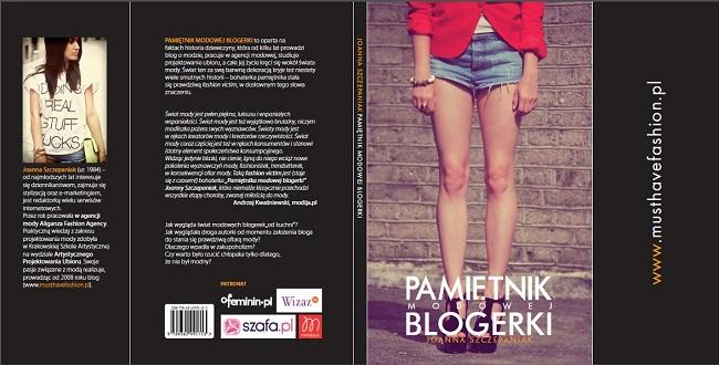 Okładka Pamiętnik Modowej Blogerki