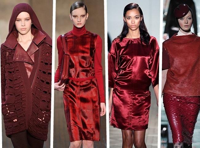 Trendy jesień zima 2012 bordowy burgund wino
