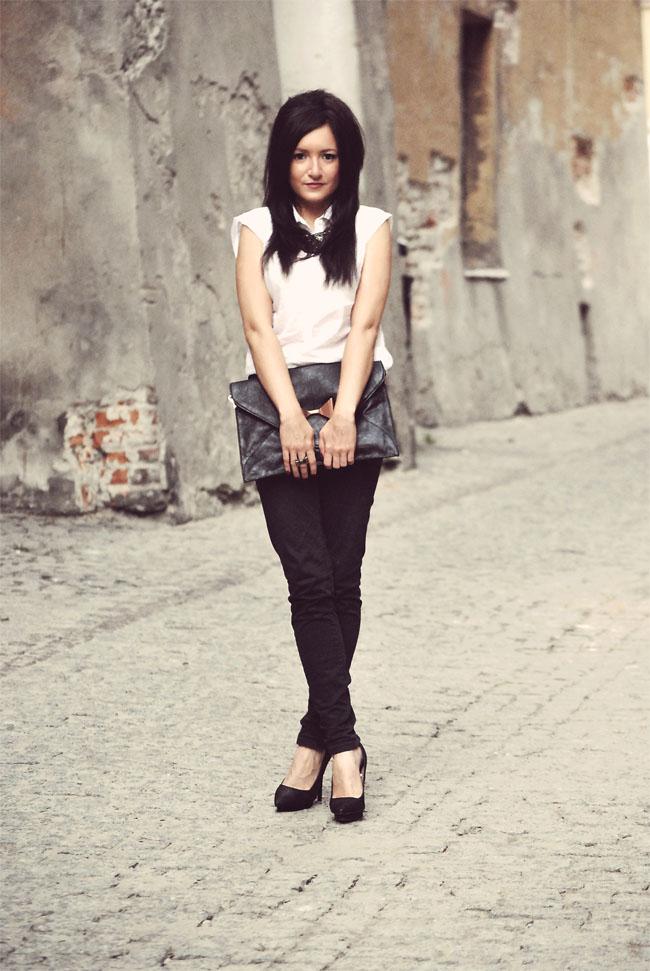 Elegancka stylizacja czarno-biała