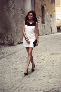 Sukienka elegancka black white