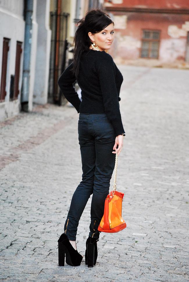 Spodnie czarne rurki ZARA