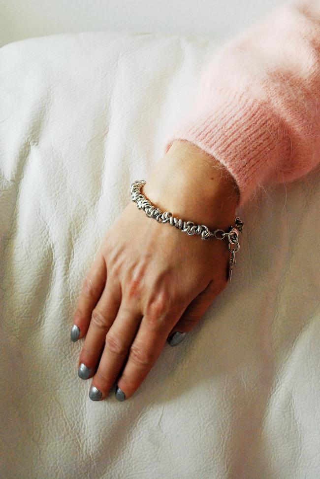 Bransoletka srebrna cienka