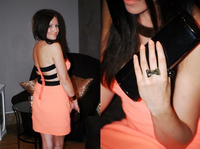 Brzoskwiniowa sukienka bandażowa Tally Weijl - MustHaveFashion.pl blog o modzie