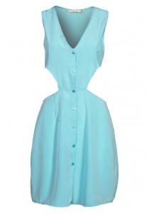 Sukienka błękitna z wycięciami