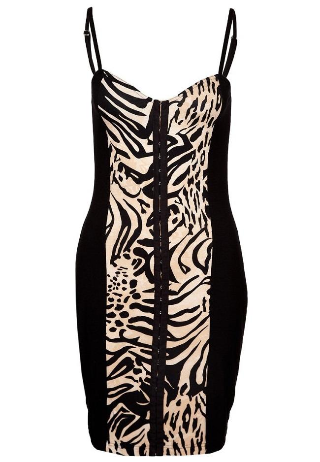 Sukienka mini zebra