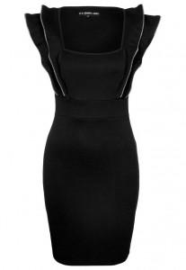 Sukienka na sylwestra czarna z kołnierzem