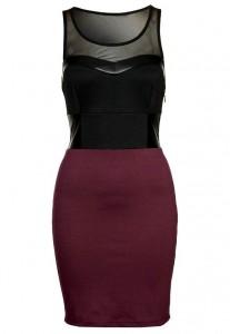 Sukienka na sylwestra czarno bordowa