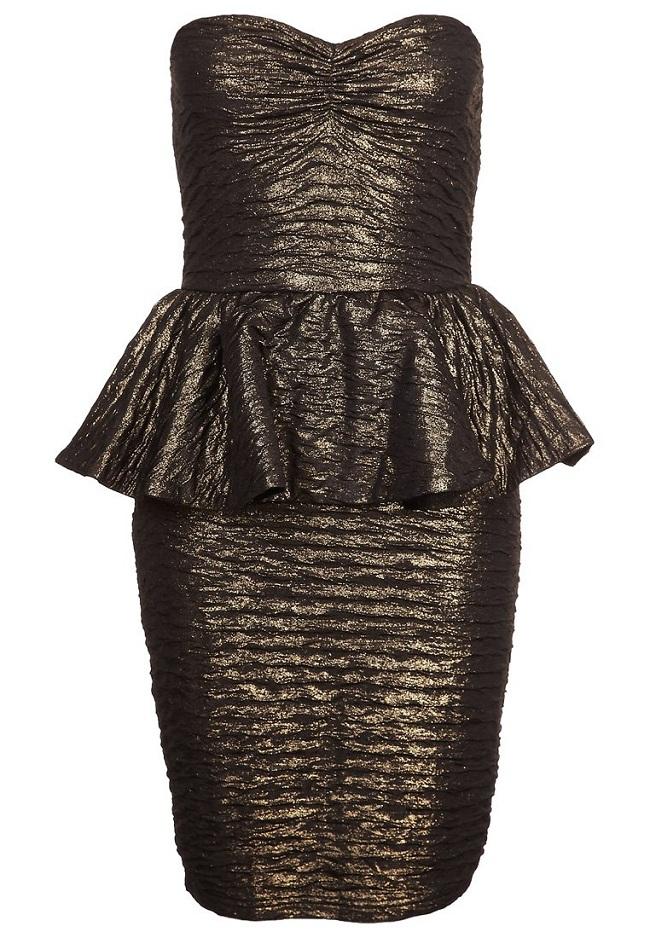 Sukienka sylwestrowa koktajlowa złota