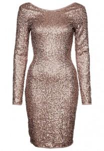 Sukienka sylwestrowa złota z cekinami