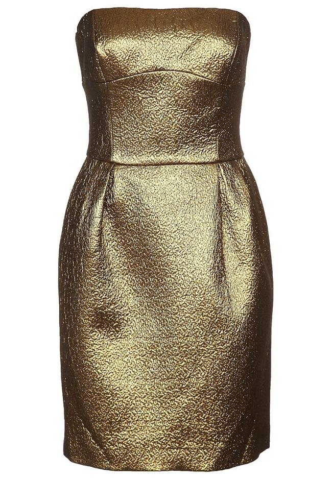 Sukienka złota etui tuba