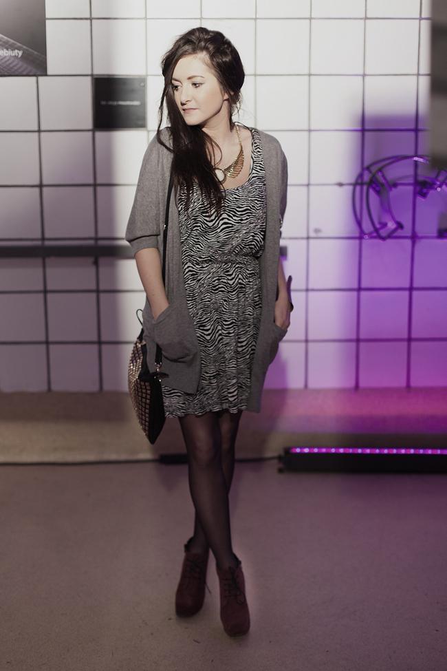 Sukienka w zebrę H&M