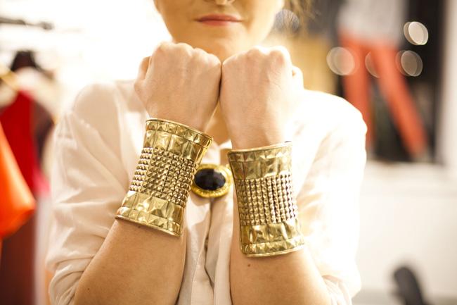 Złote bransolety