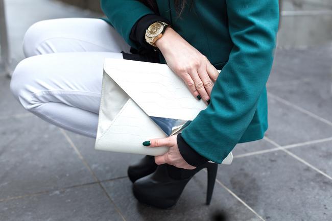 Kopertówka wężowa H&M biała
