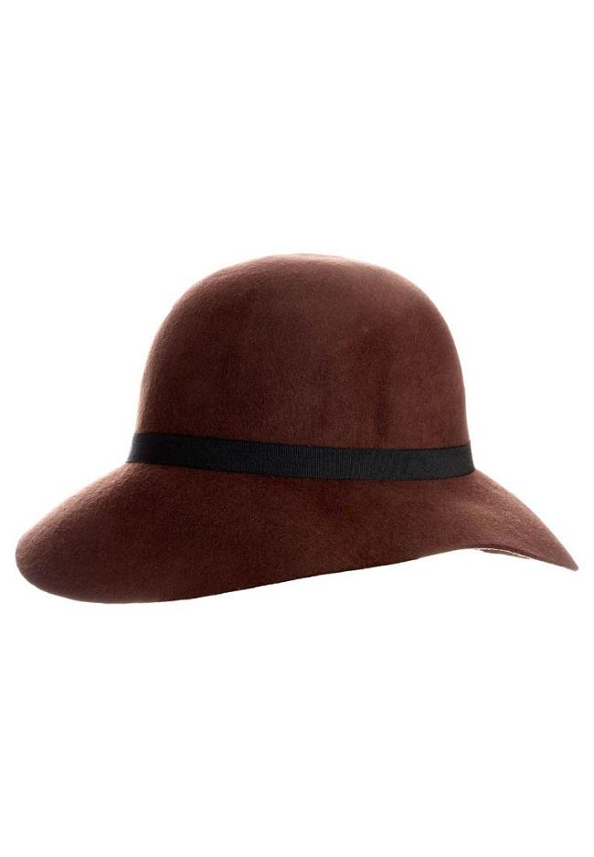 kapelusz bordowy