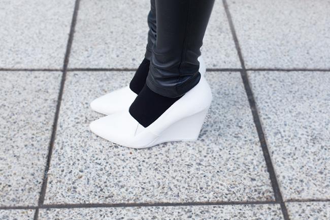 białe buty h&m