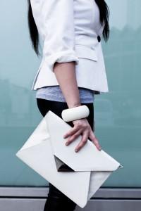 kopertówka biała h&m