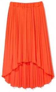 makowa spódnica plisowana