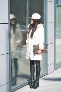 płaszczyk biały lana del rey H&M