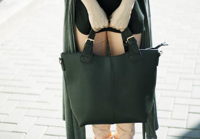 torebka czarna shopper