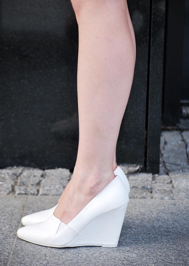 białe koturny h&m