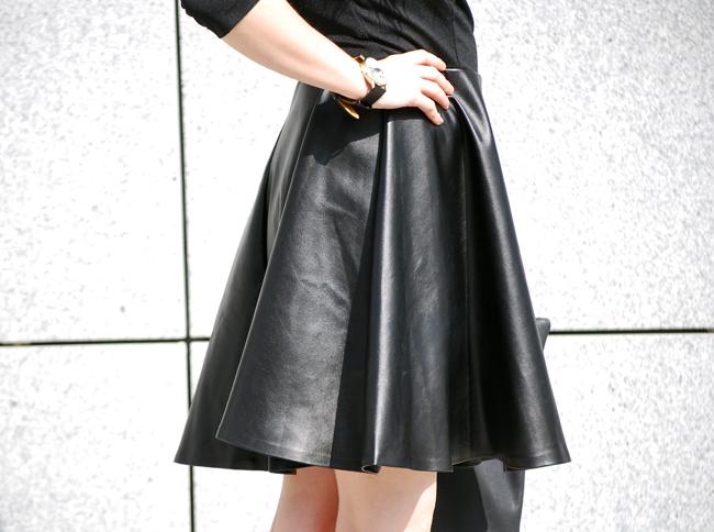sukienka ekoskóra czarna
