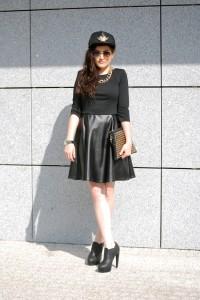 sukienka plisowana czarna