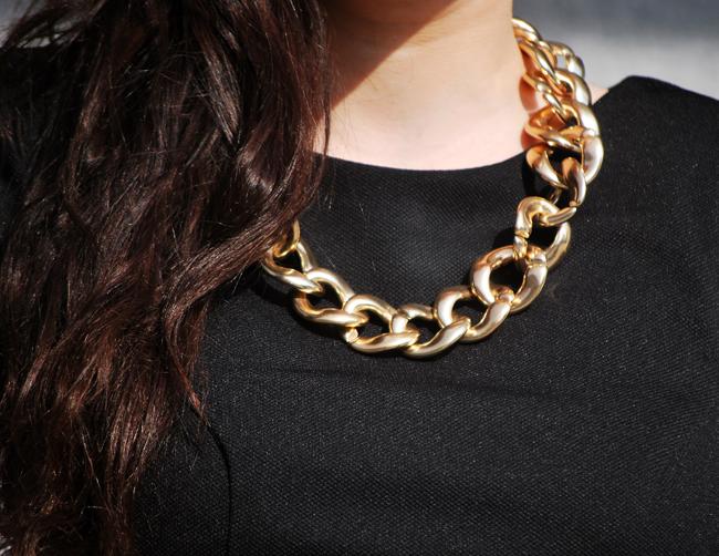 złoty łańcuch new look