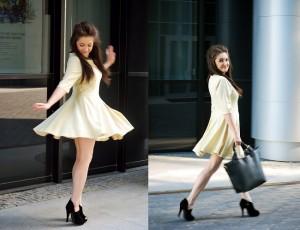 cytrynowa sukienka