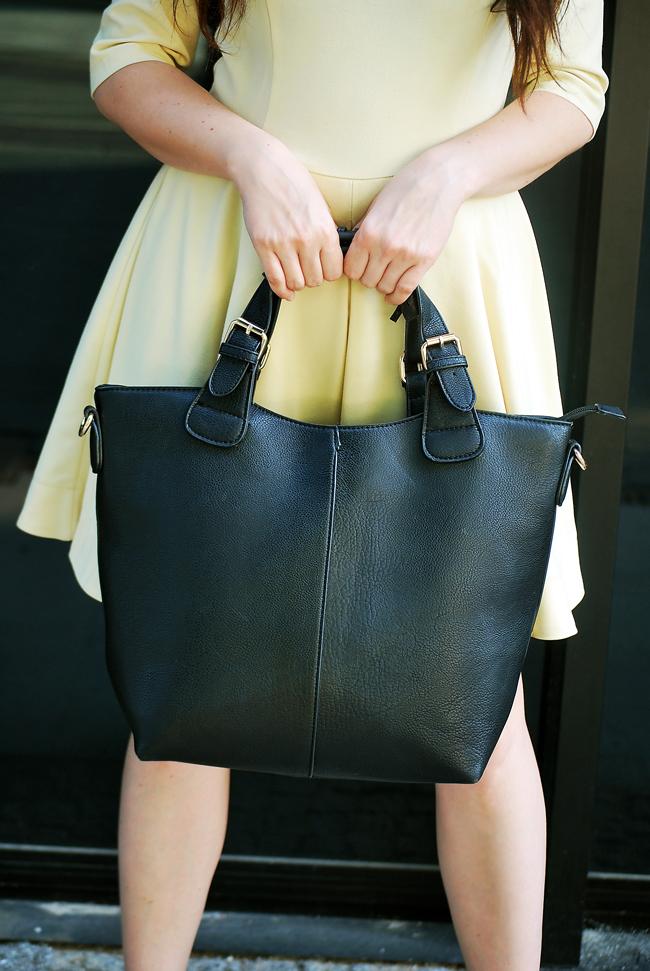 torba shopper czarna