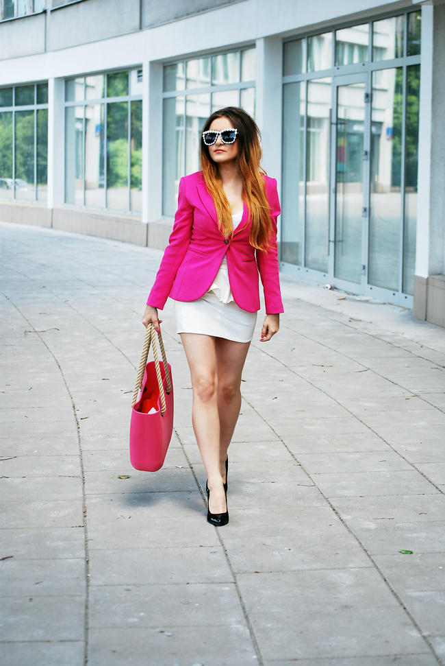 Marynarka H&M różowa