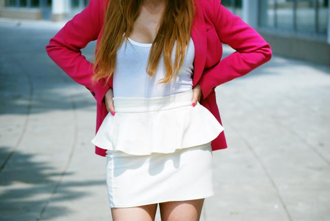 Spódnica z baskinką biała