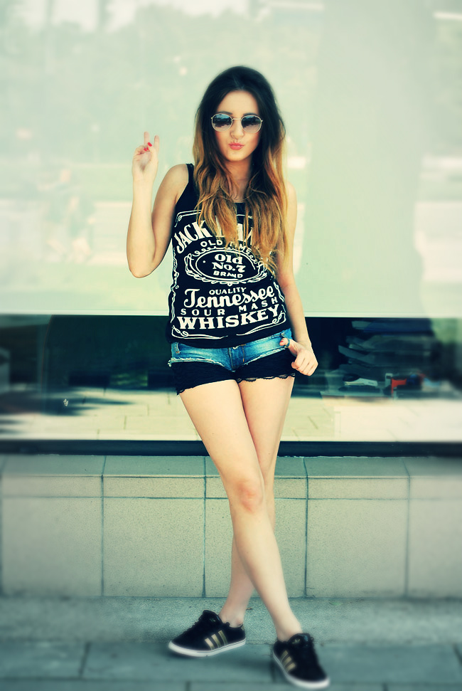T-shirt Jack Daniels czarna