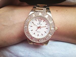 Zegarek pokryty złotem 18K