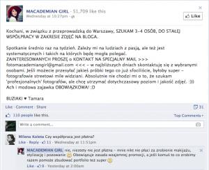 komentarz macademian girl