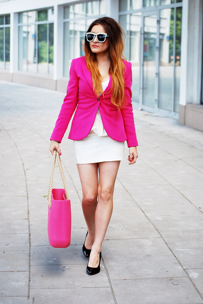 torba skórzna różowa obag