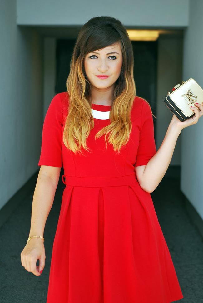 Czerwona sukienka blog