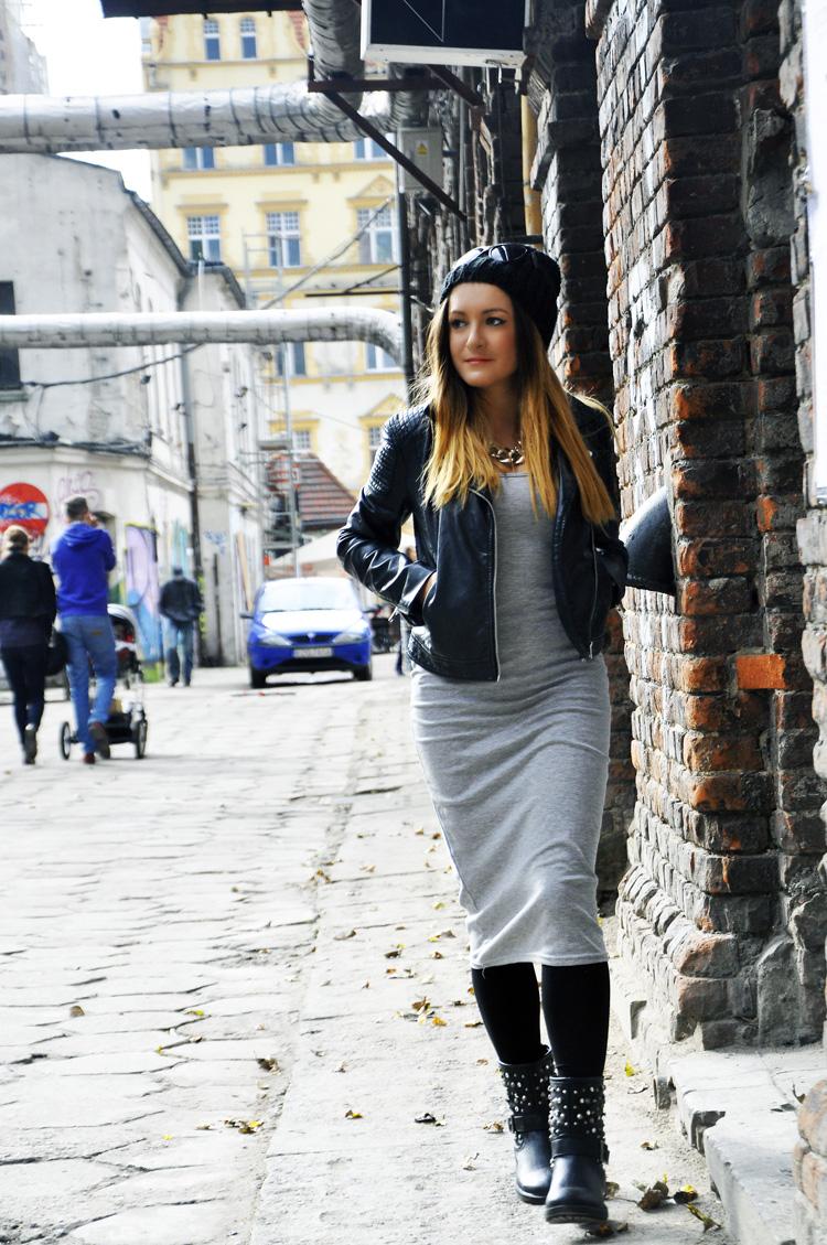 Sukienka midi szara